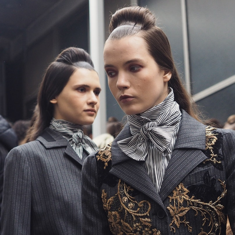 Backstage at Antonio Marras Fall 2015