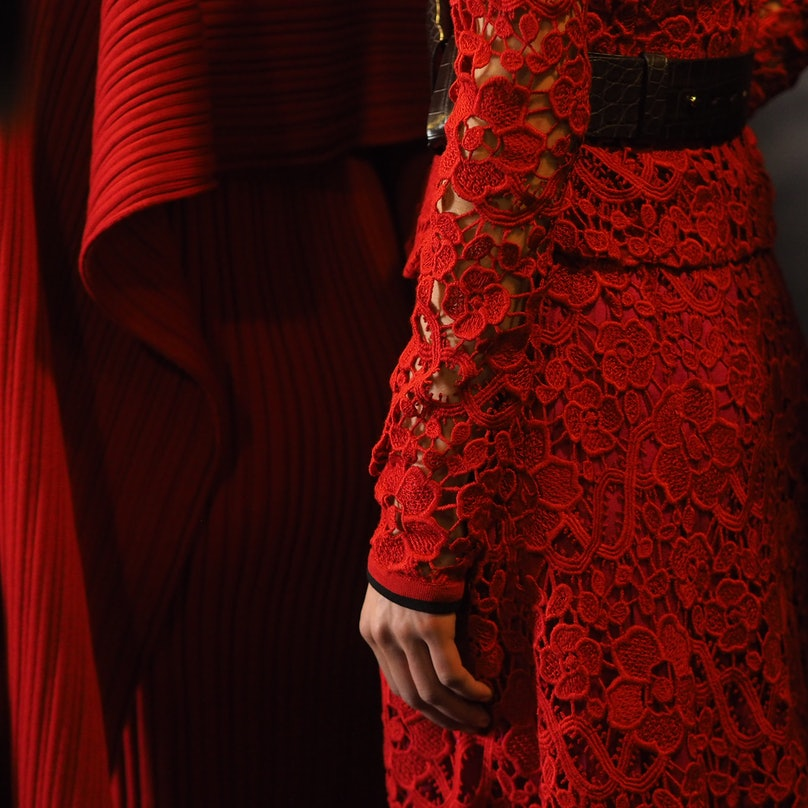 Backstage at Ferragamo Fall 2015