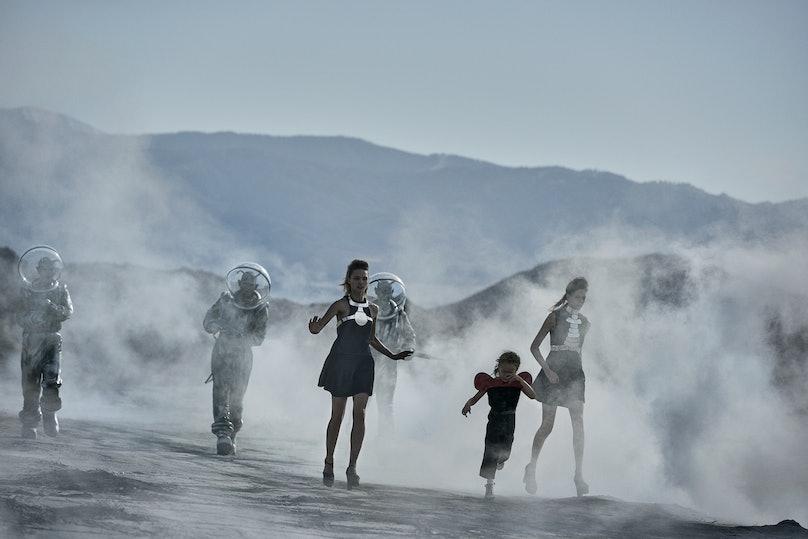 Peter Lindbergh, Natalie Westling and Sasha Pivovarova,