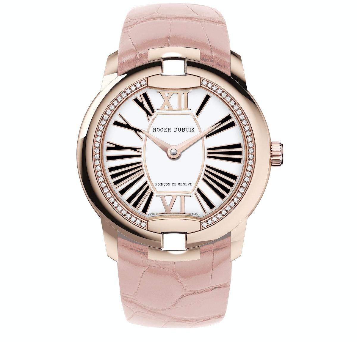 Roger Dubuis Velvet in 18k pink gold with diamonds