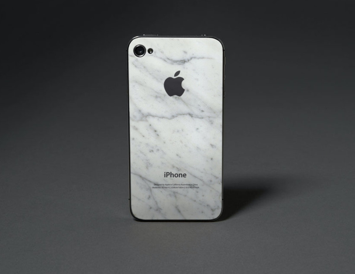 white marble iPhone