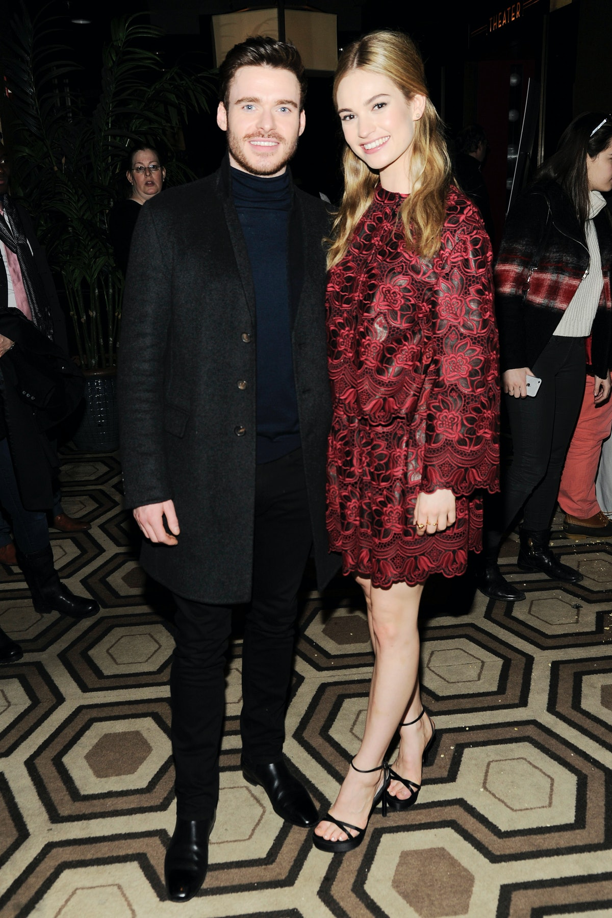 Richard Madden and Lily James