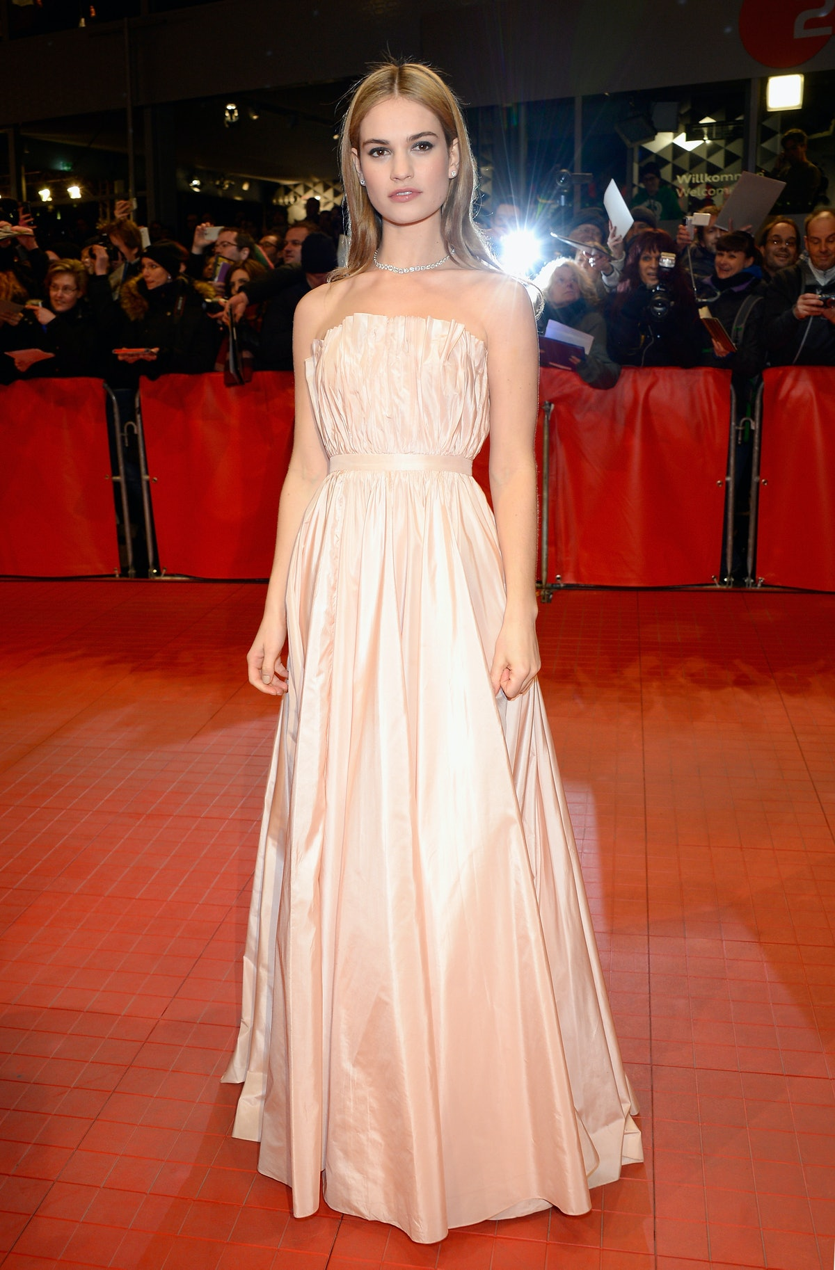 Lily James Dior
