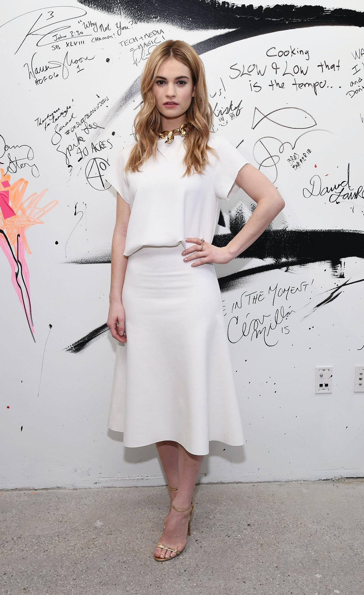 Lily James in Camilla and Marc
