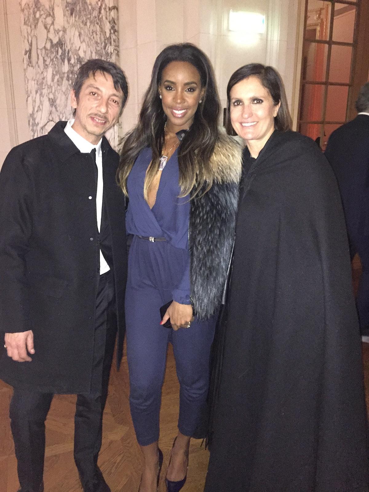 Kelly Rowland and Valentino's Pierpaolo Piccioli and Maria Grazia Chiuri