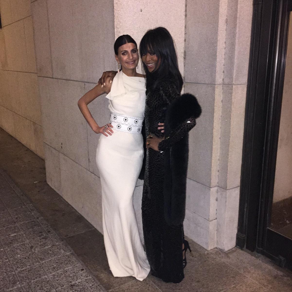 Naomi Campbell and Giovanna Battaglia