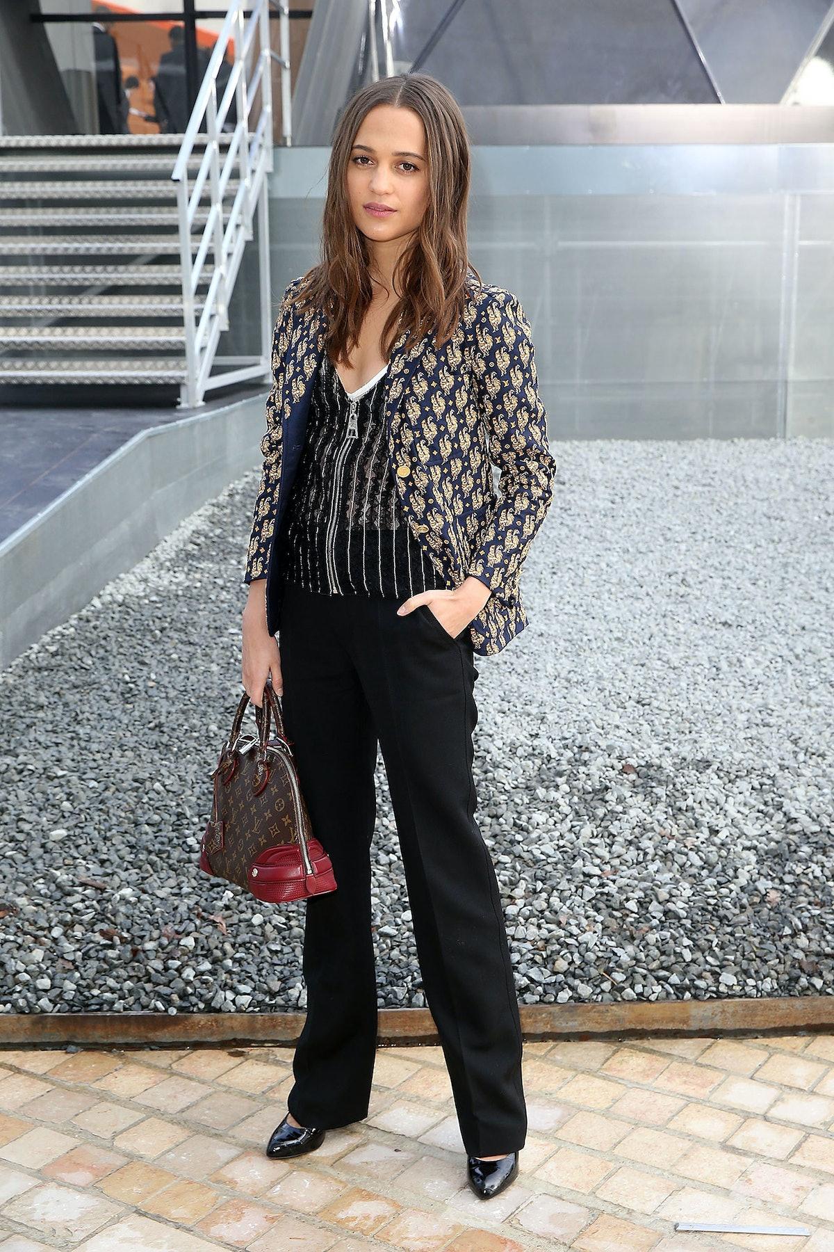 Alicia Vikander in Louis Vuitton