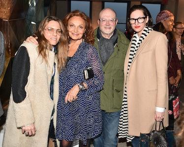 Courtney Crangi, Diane von Furstenberg, Mickey Drexler, and Jenna Lyons