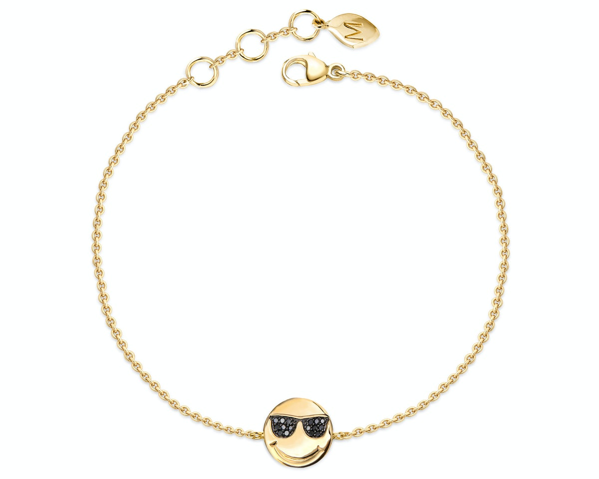 Missoma 18k gold vermeil and black diamond bracelet