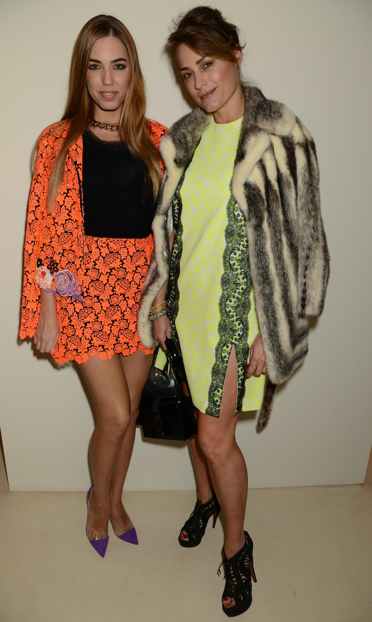 Amber and Yasmin Le Bon