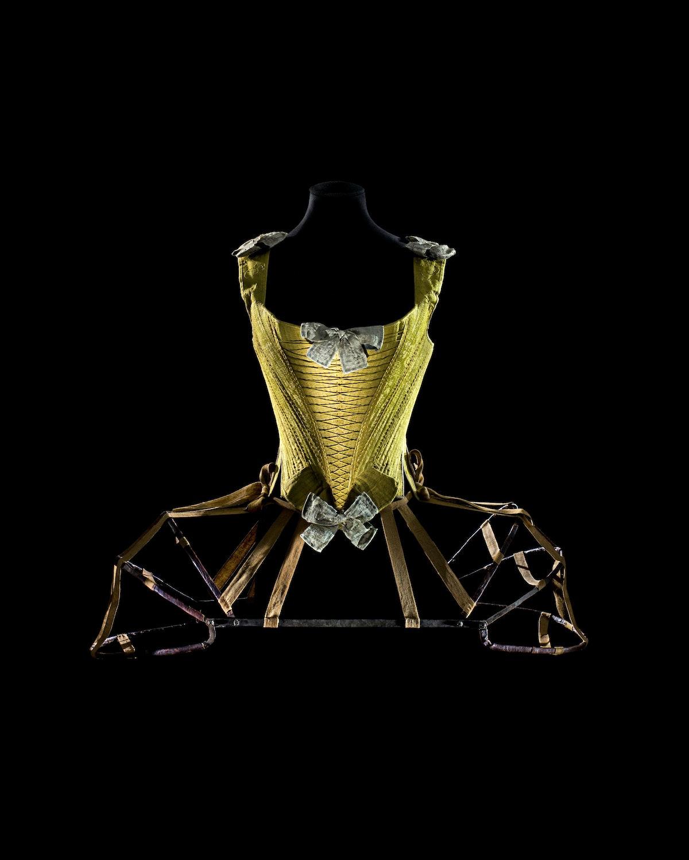 Whalebone corset. France, ca. 1740–60