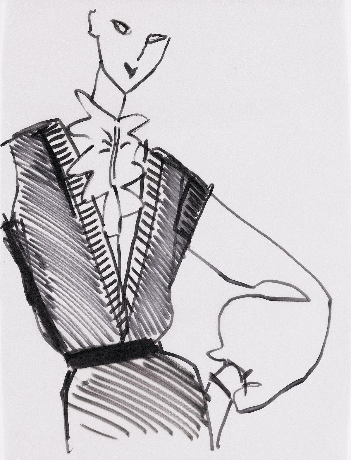 Bill Blass sketch