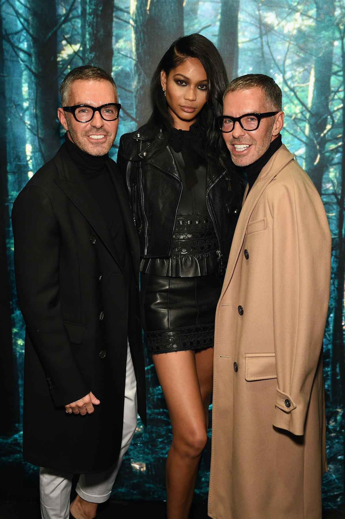 Dan and Dean Caten with Chanel Iman
