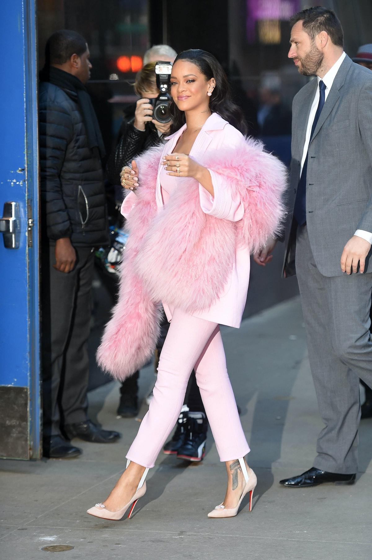 Rihanna Pink Suit
