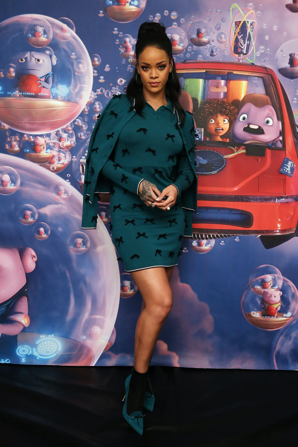 Rihanna Adam Selman Dress