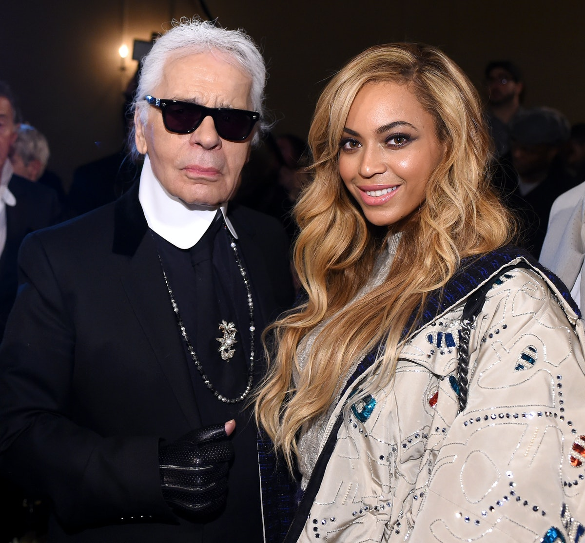 Karl Lagerfeld and Beyoncé