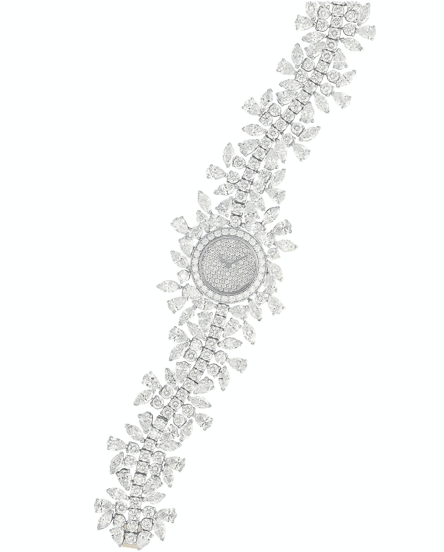 Vancleef & Arpels 18k white gold and diamond watch