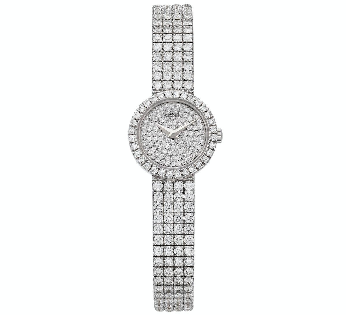 Piaget 18k white gold and diamond watch