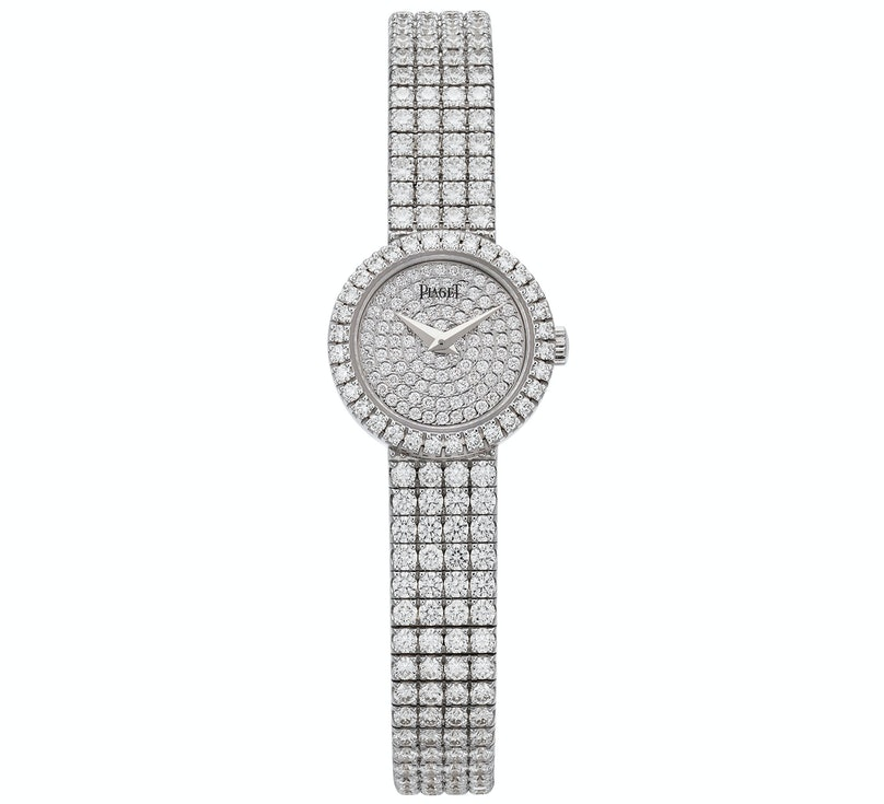 Piaget 18k white gold and diamond watch