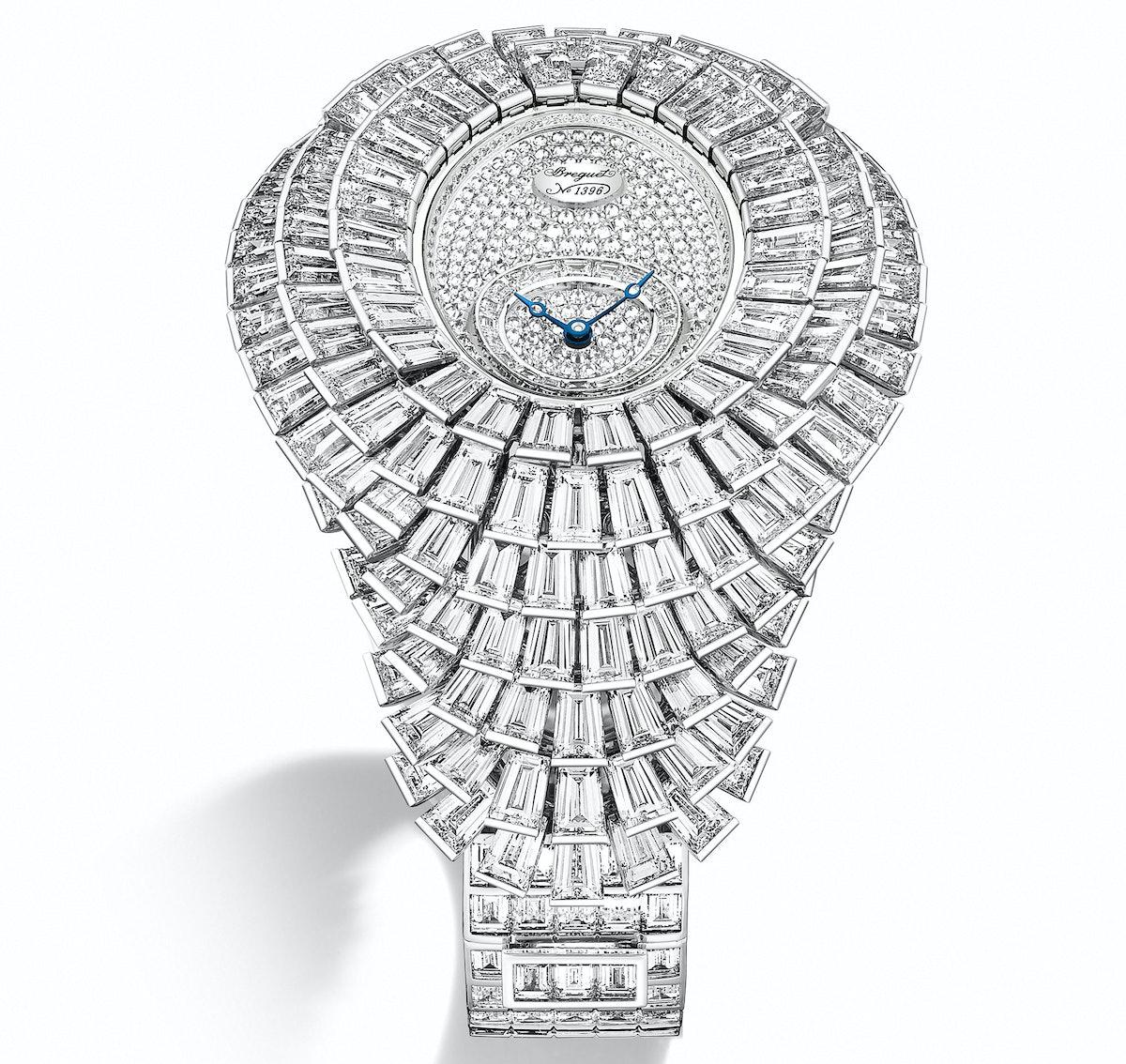 Breguet 18k white gold and diamond watch