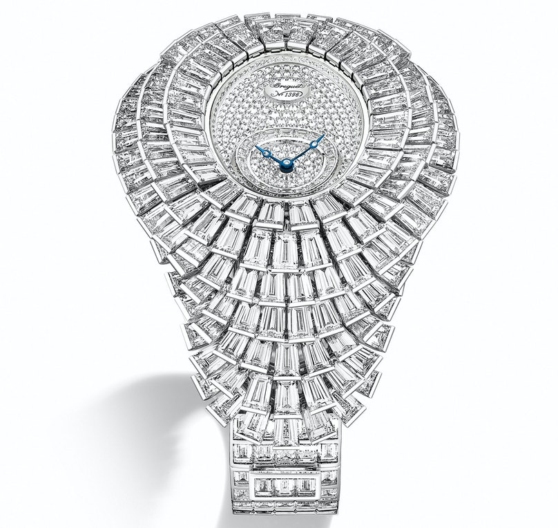 Breguet 18k white gold and diamond watch