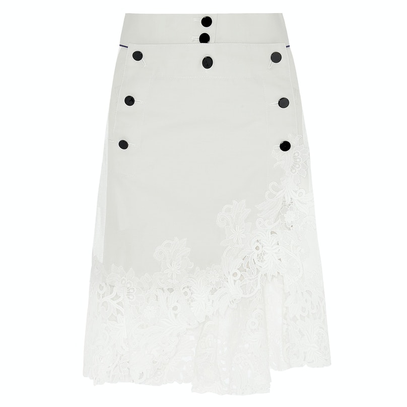 Sacai lace skirt