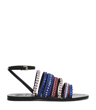 Tory Burch flat sandal, $295, toryburch.com