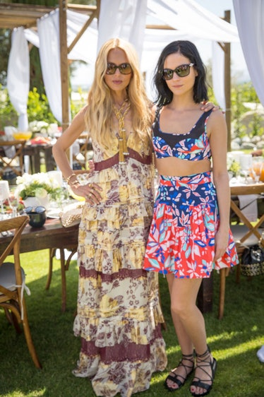 Rachel Zoe and Leigh Lezark at an intimate brunch hosted by DVF and Rachel Zoe. Photo by Monti Smith...