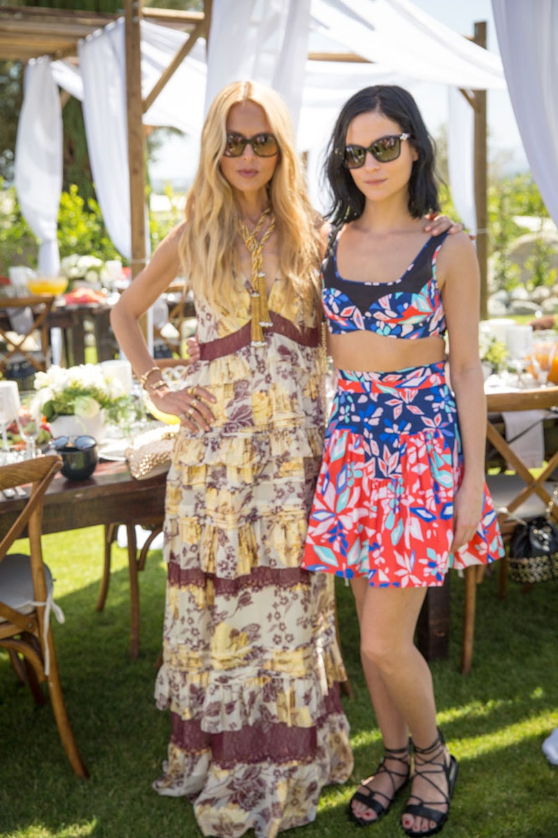 Rachel Zoe and Leigh Lezark at an intimate brunch hosted by DVF and Rachel Zoe. Photo by Monti Smith.