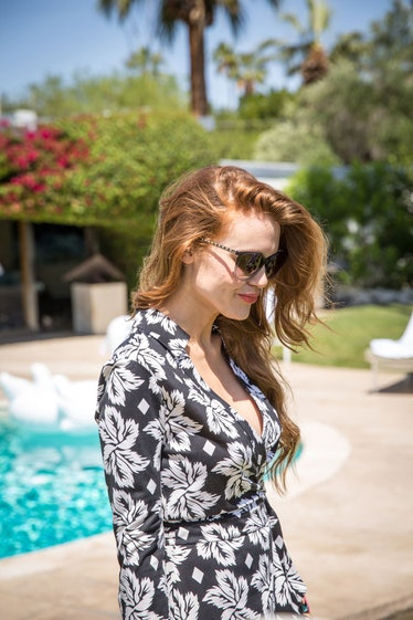 Holland Roden at an intimate brunch hosted by DVF and Rachel Zoe. Photo by Monti Smith.