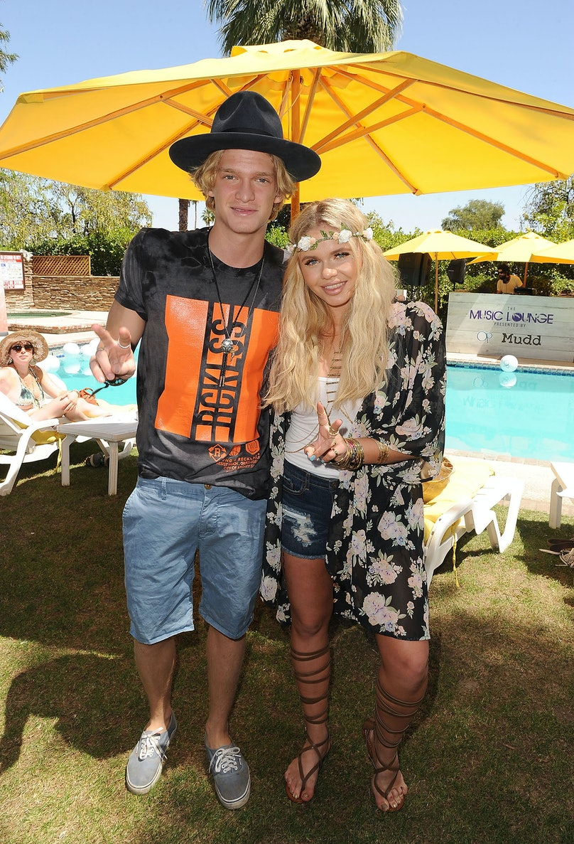 Cody and Alli Simpson at The Music Lounge presented by MUDD and Ocean Pacific. Photo by Angela Weiss/Getty Images.