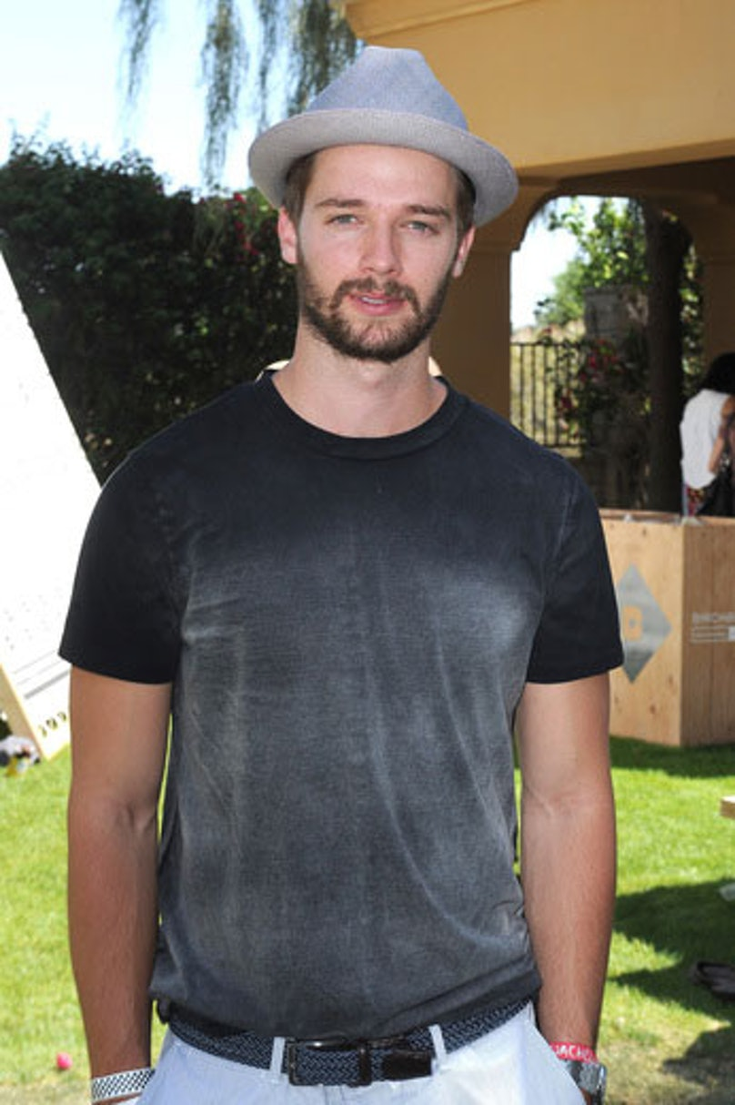 Patrick Schwarzenegger attends the Birchbox Cabanas at the Interview Magazine Compound. Photo by Joshua Blanchard/Getty Images for Birchbox.
