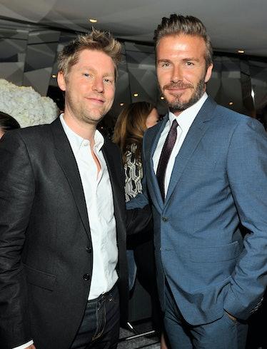 Christopher Bailey and David Beckham