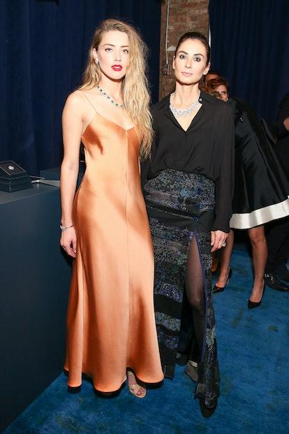 Amber Heard and Francesca Amfitheatrof
