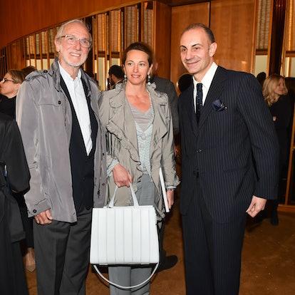 Renzo Piano, Milly Piano, and Luigi Maramotti