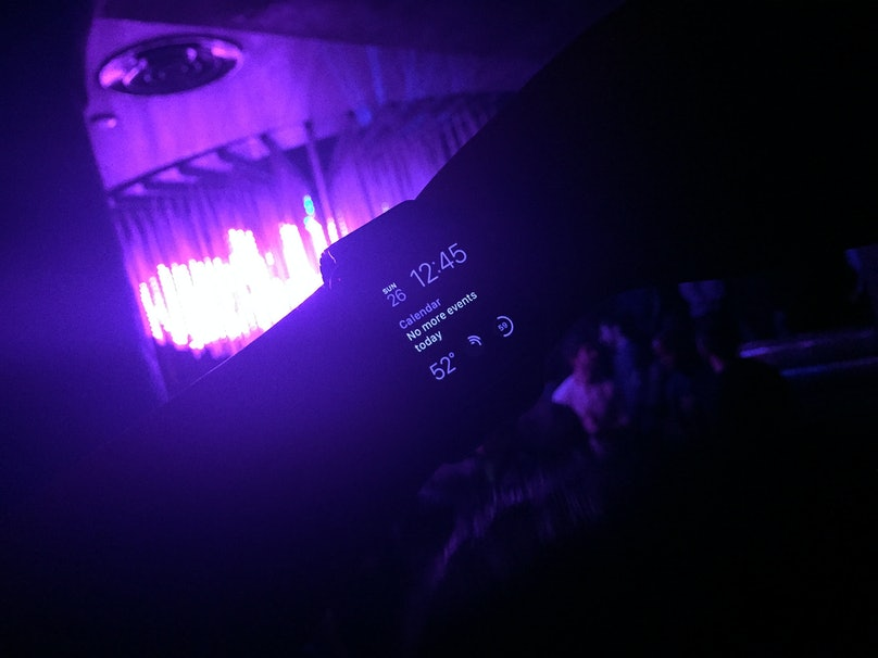 Apple Watch at the Gilded Lily club for Marjorie Gubelmann's dance party