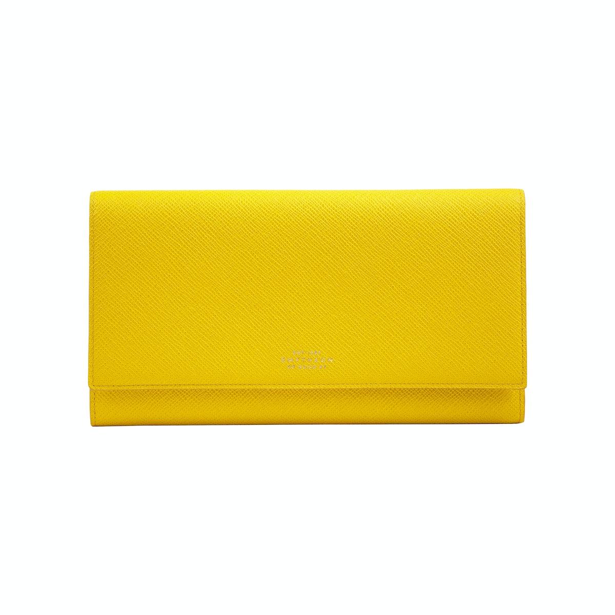 Yellow Smythson wallet