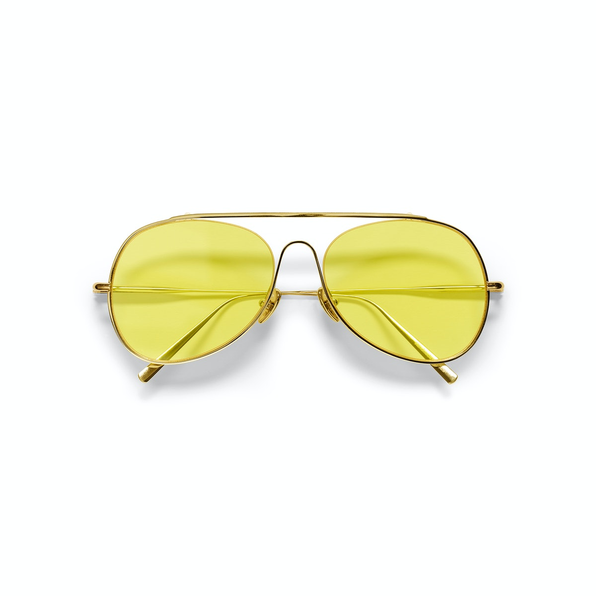 Yellow Acne Studios sunglasses