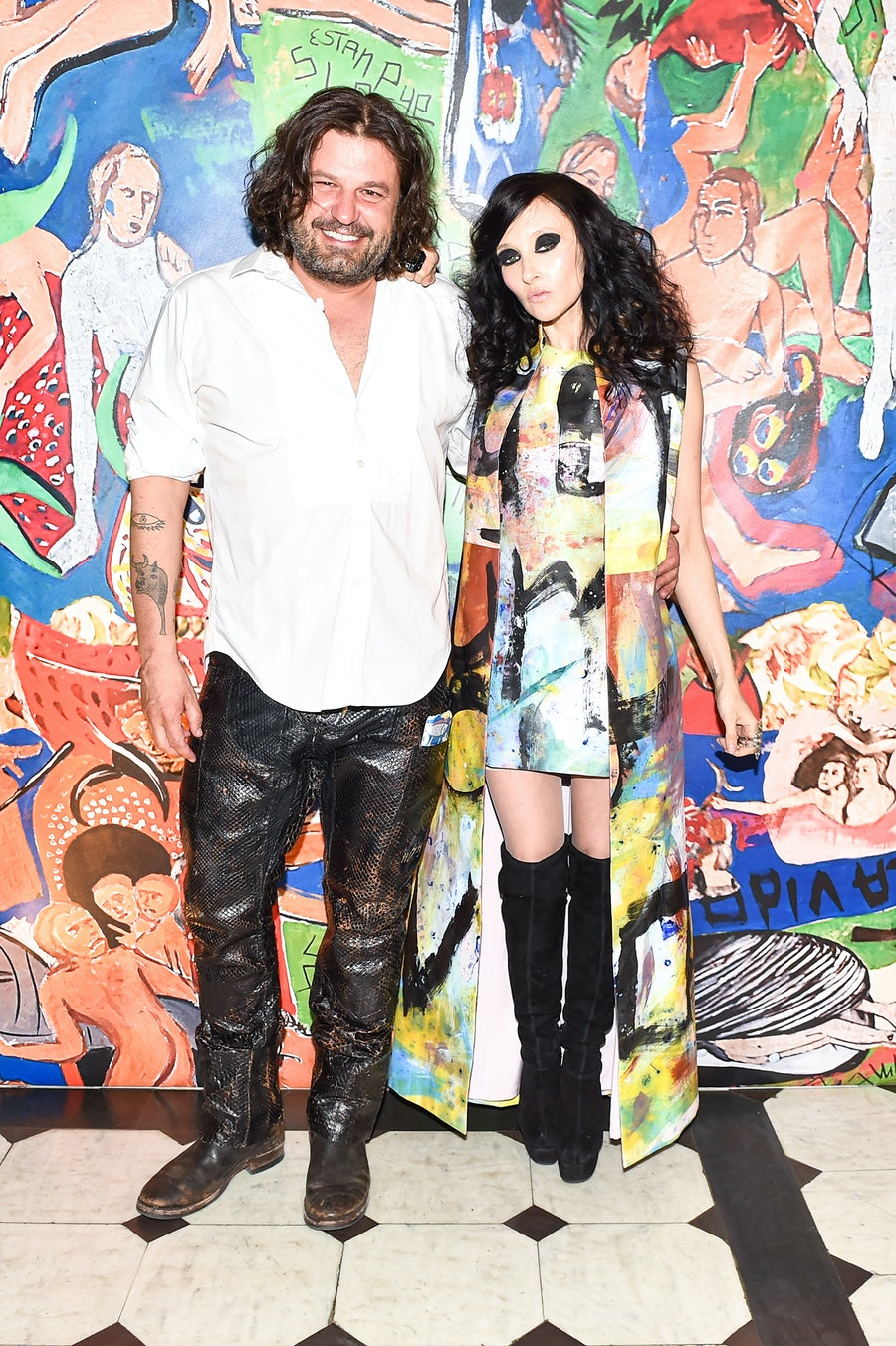 Domingo Zapata and Stacey Bendet
