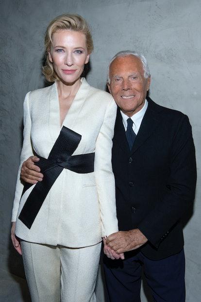 Cate Blanchett and Giorgio Armani