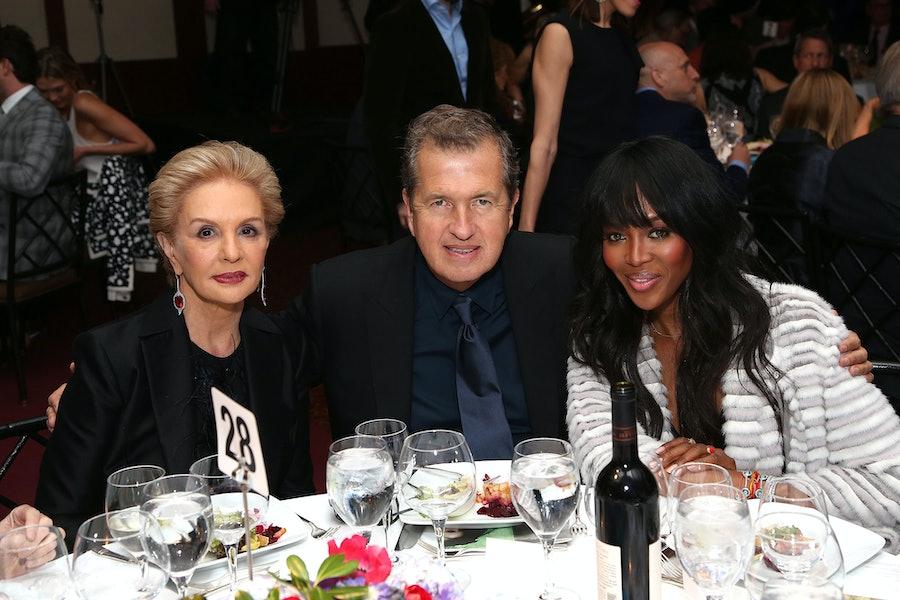 Carolina Herrera, Mario Testino, and Naomi Campbell