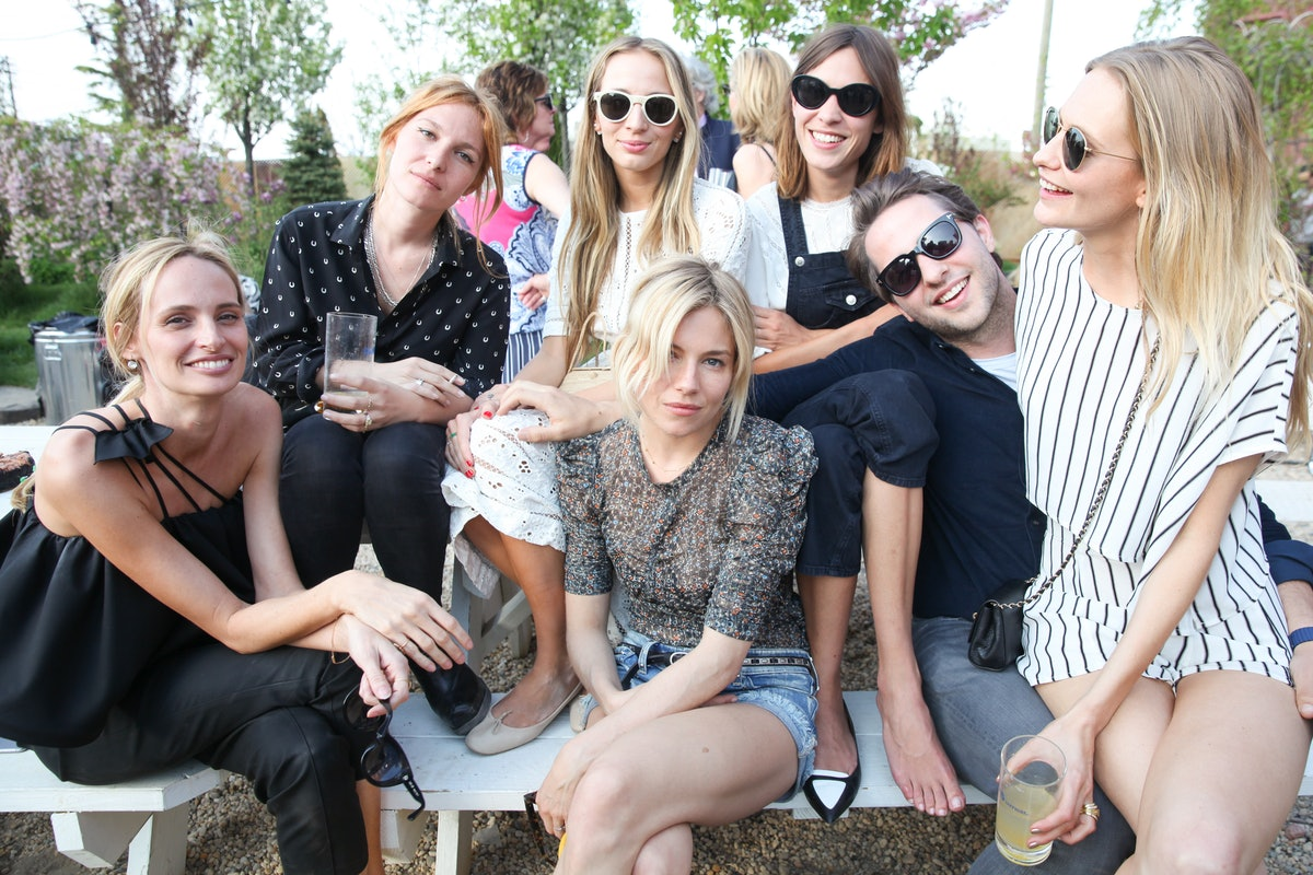 Lauren Santo Domingo, Harley Viera-Newton, Sienna Miller, Alexa Chung, Derek Blasberg, and Poppy Del...