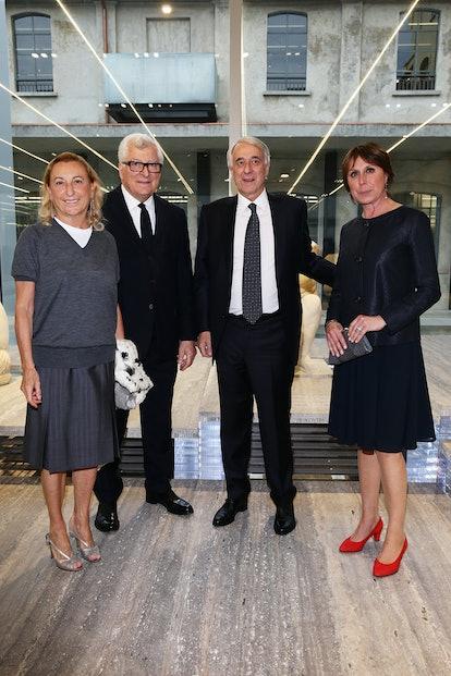 Miuccia Prada, Patrizio Bertelli, Giuliano Pisapia, and Cinzia Sasso