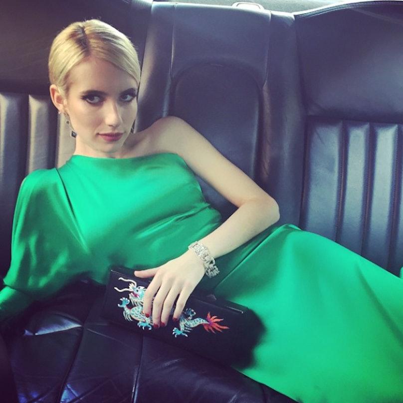 Emma Roberts's Met Ball Beauty