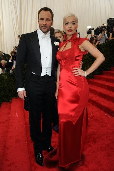 Rita Ora in a Tom Ford dress