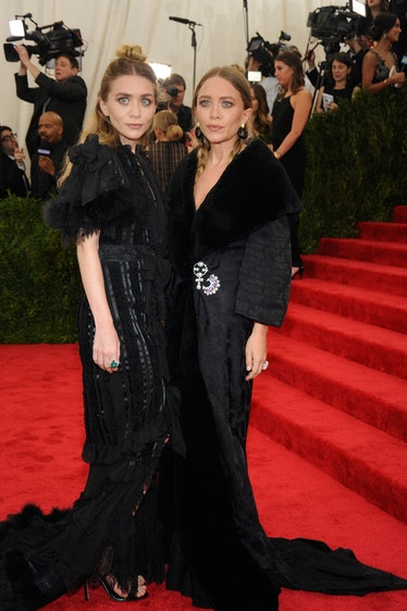 Ashley and Mary Kate Olsen in vintage Dior by John Galliano