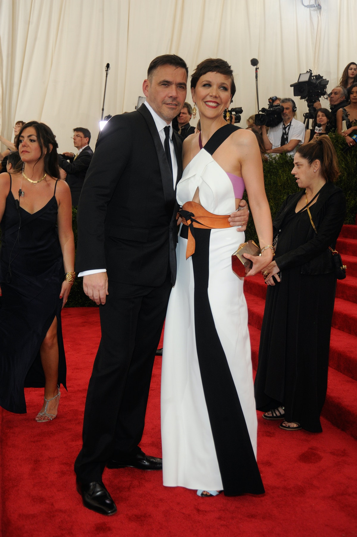 Roland Mouret and Maggie Gyllenhaal
