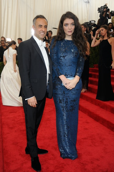 Francisco Costa and Lorde in Calvin Klein Collection