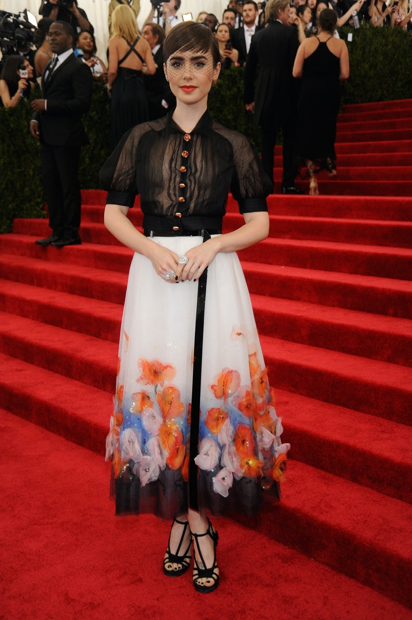 Lily Collins in Chanel