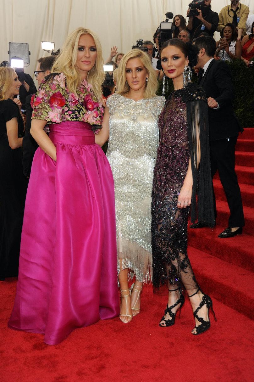 Keren Craig, Elie Goulding, and Georgina Chapman in Marchesa